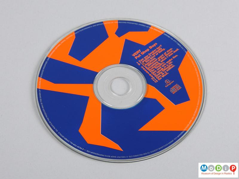 Front view of a CD showing the printed graphics.