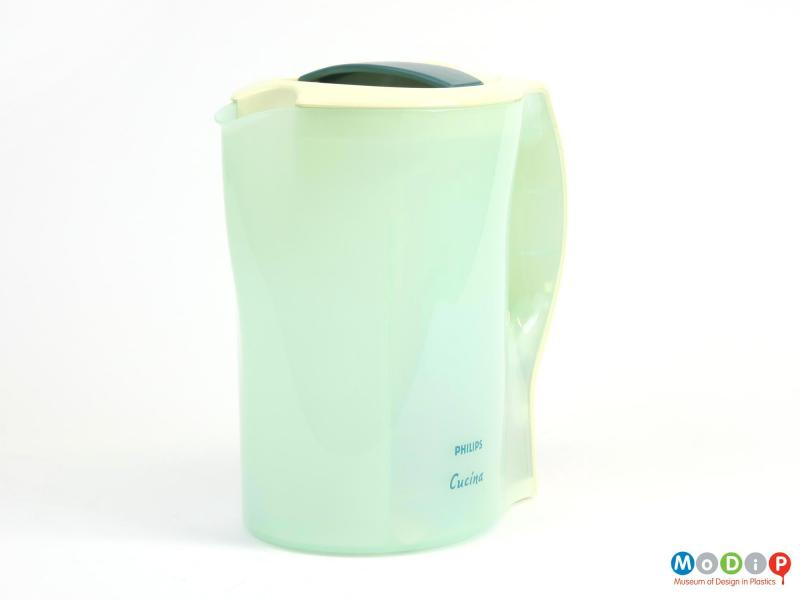 Front view of a kettle showing the translucent body.
