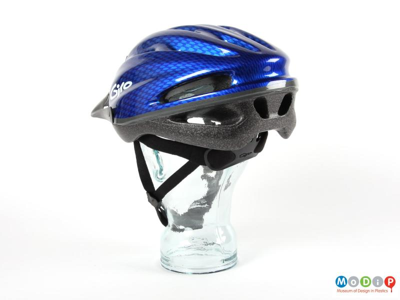 Rear view of a Giro helmet showing the Roc Loc system at the back.