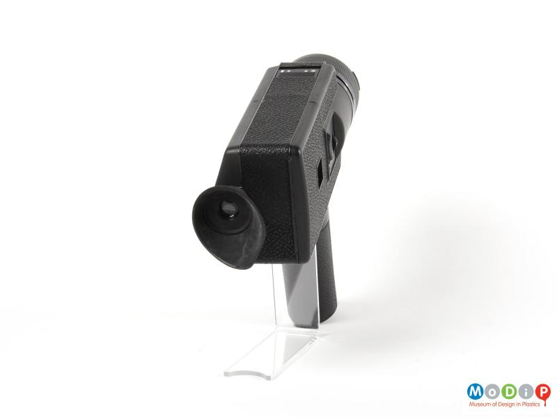 Rear view of a camera showing the eye piece.