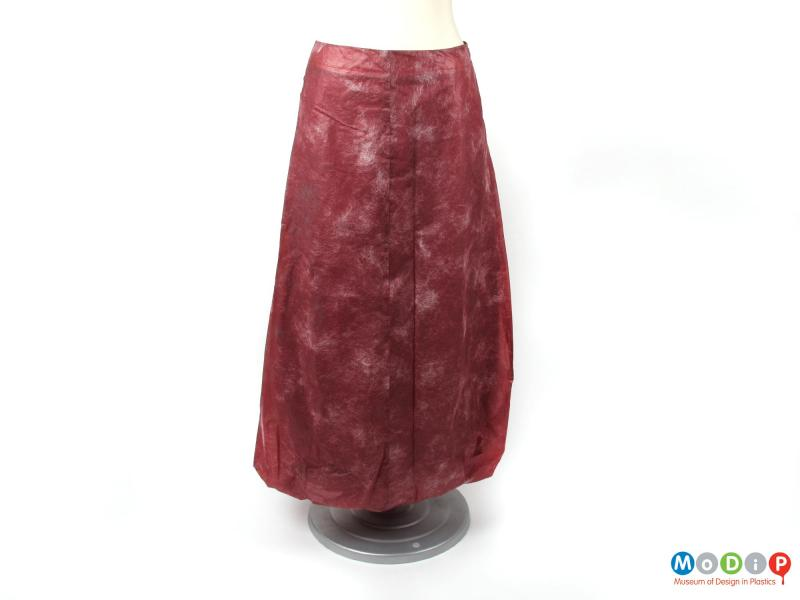 Front view of a skirt showing the outline shape.