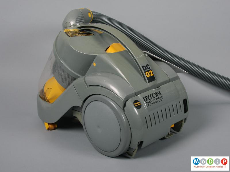 Rear view of a vacuum cleaner showing the carrying handle.