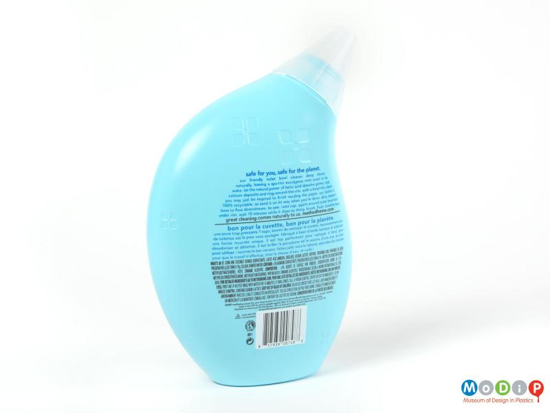 Rear view of a Method bottle showing the printed information on the back.