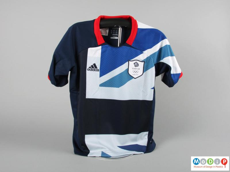 Front view of a football jersey showing the Union flag design.