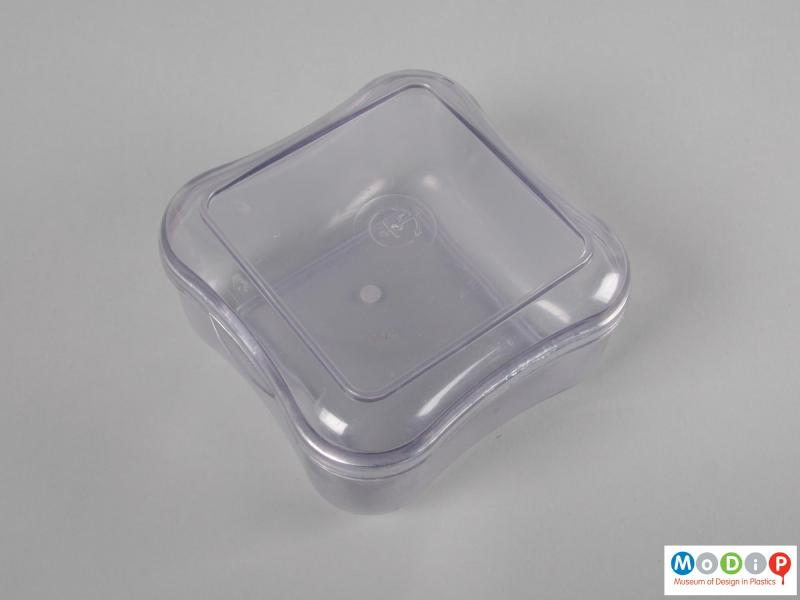 Top view of a storage box showing the lid.