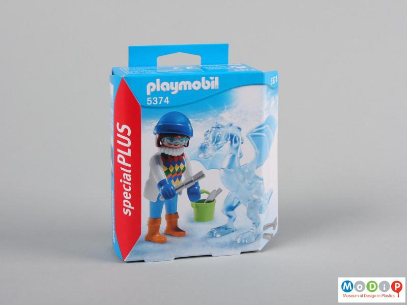 Front view of a figure showing the packaging.
