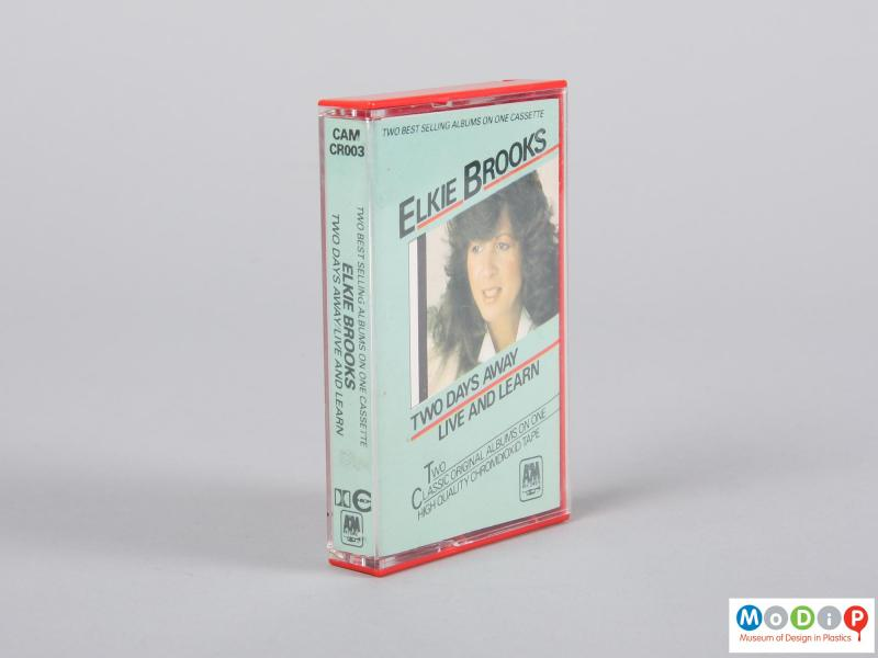 Front view of a cassette tape showing the printed insert cover.