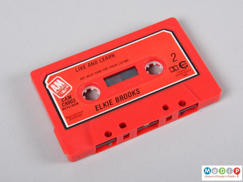 Side view of a cassette tape showing side two.