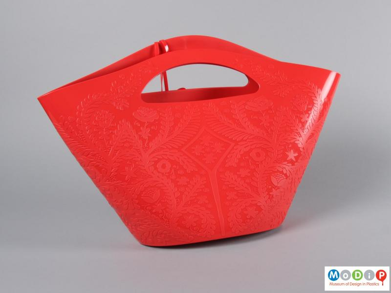 Rear view of a bag showing the moulded pattern.