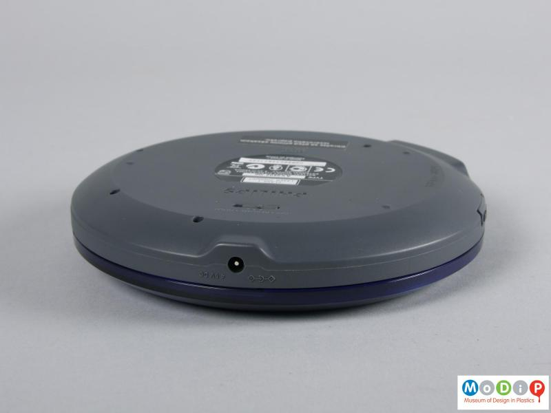 Side view of a CD player showing the power socket.
