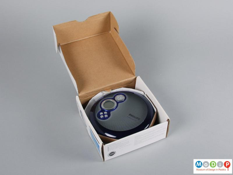 Top view of a CD player showing the packaging.