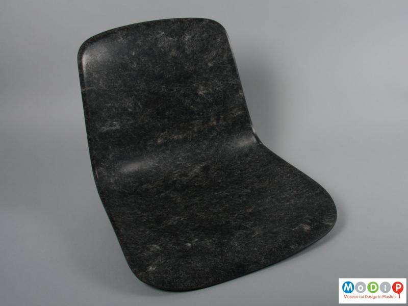 Front view of a chair showing the seat.