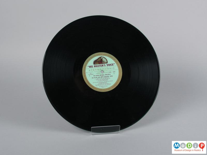 Front view of a record showing side 1.