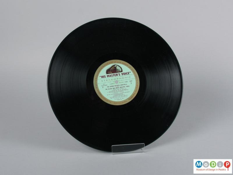 Rear view of a record showing side 2.