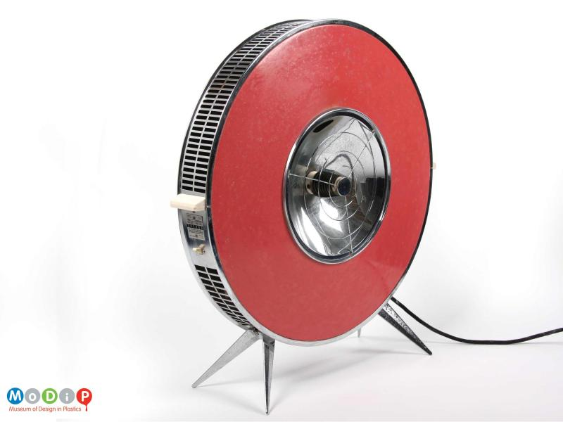 Side view of a Sofono electric heater showing the handle at the side.
