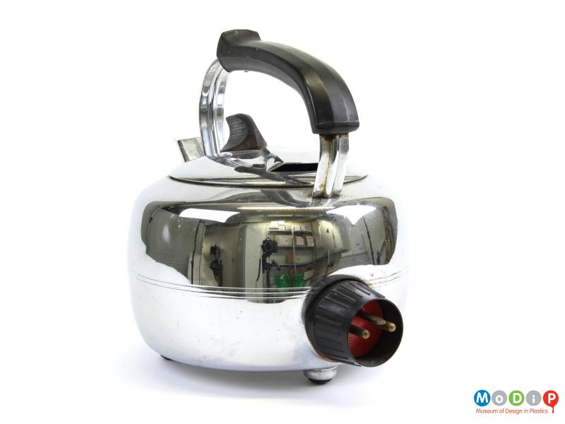 Rear view of a Swan kettle showing the plug socket.