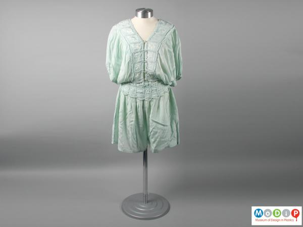 Front view of a pyjama set showing the loose fitting style.