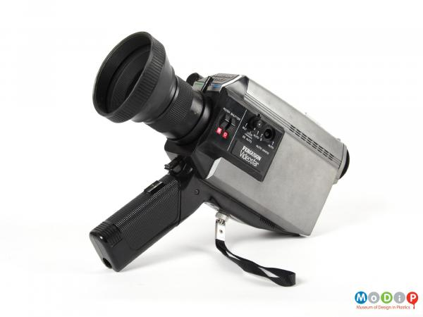 Side view of a Ferguson Videostar showing moulded grip on the handle.