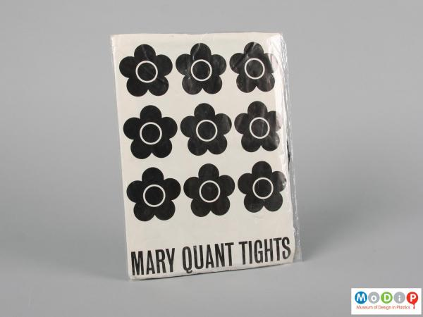Front view of a packet of tight showing the Mary Quant logo.