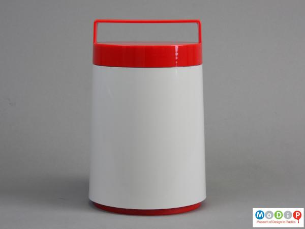 Side view of an insulated jar showing the straight sides.