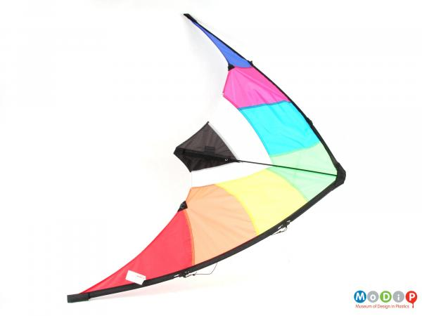 Top view of a kite showing the full wingspan.
