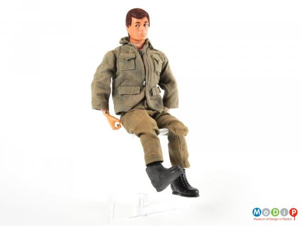 Front view of an Action Man showing the military clothing.