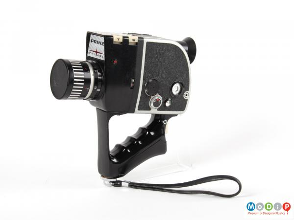 Side view of a camera showing the egonomic handle.