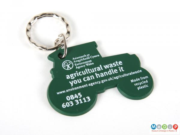 Front view of a keyring showing the printed inscription.