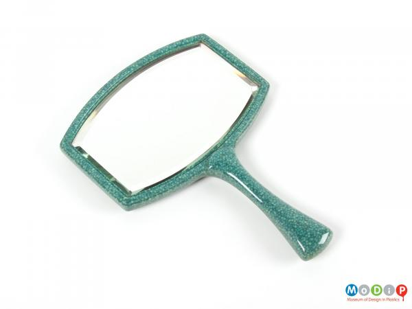 Front view of a mirror showing the handle.