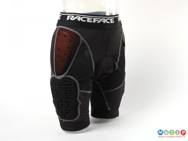 Side view of a pair of undershorts showing the D3o pad at the hip.