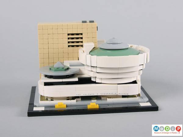 Front view of a Lego set showing the complete set.
