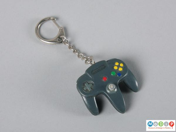 Top view of a keyring showing the controller design.