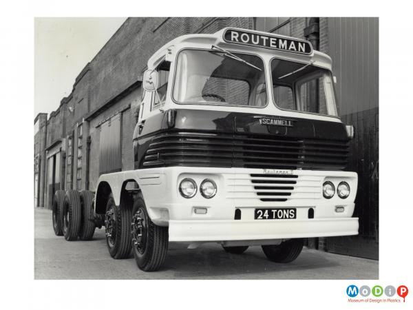 Scanned image showing a Routeman lorry.