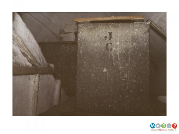 Scanned image showing a water tank.