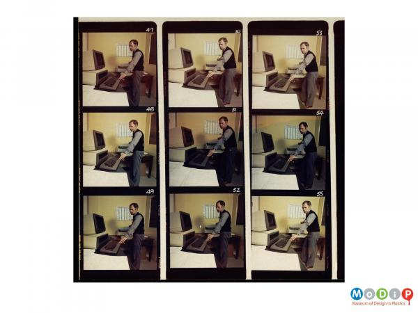 Scanned image showing a 9 image contact sheet.