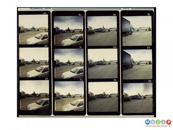 Scanned image showing a 12 image contact sheet.