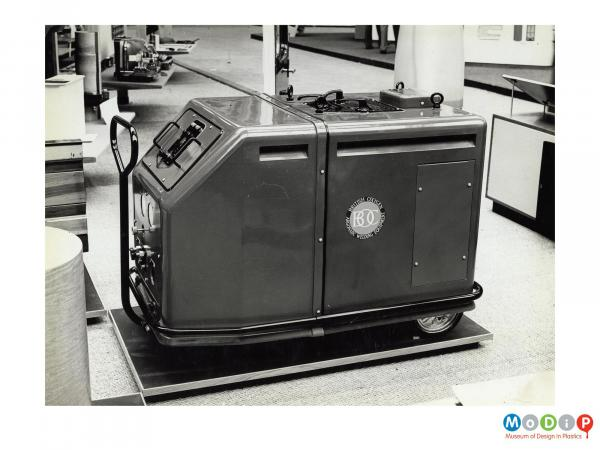 Scanned image showing a welding unit with a resin case.