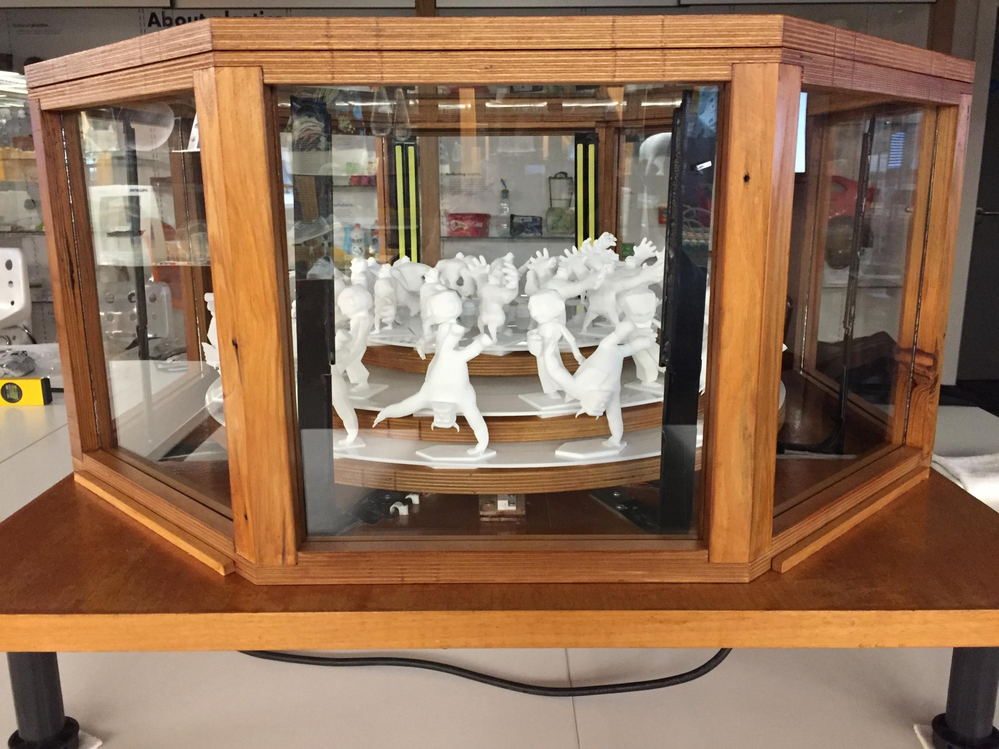 Zoetrope in display case