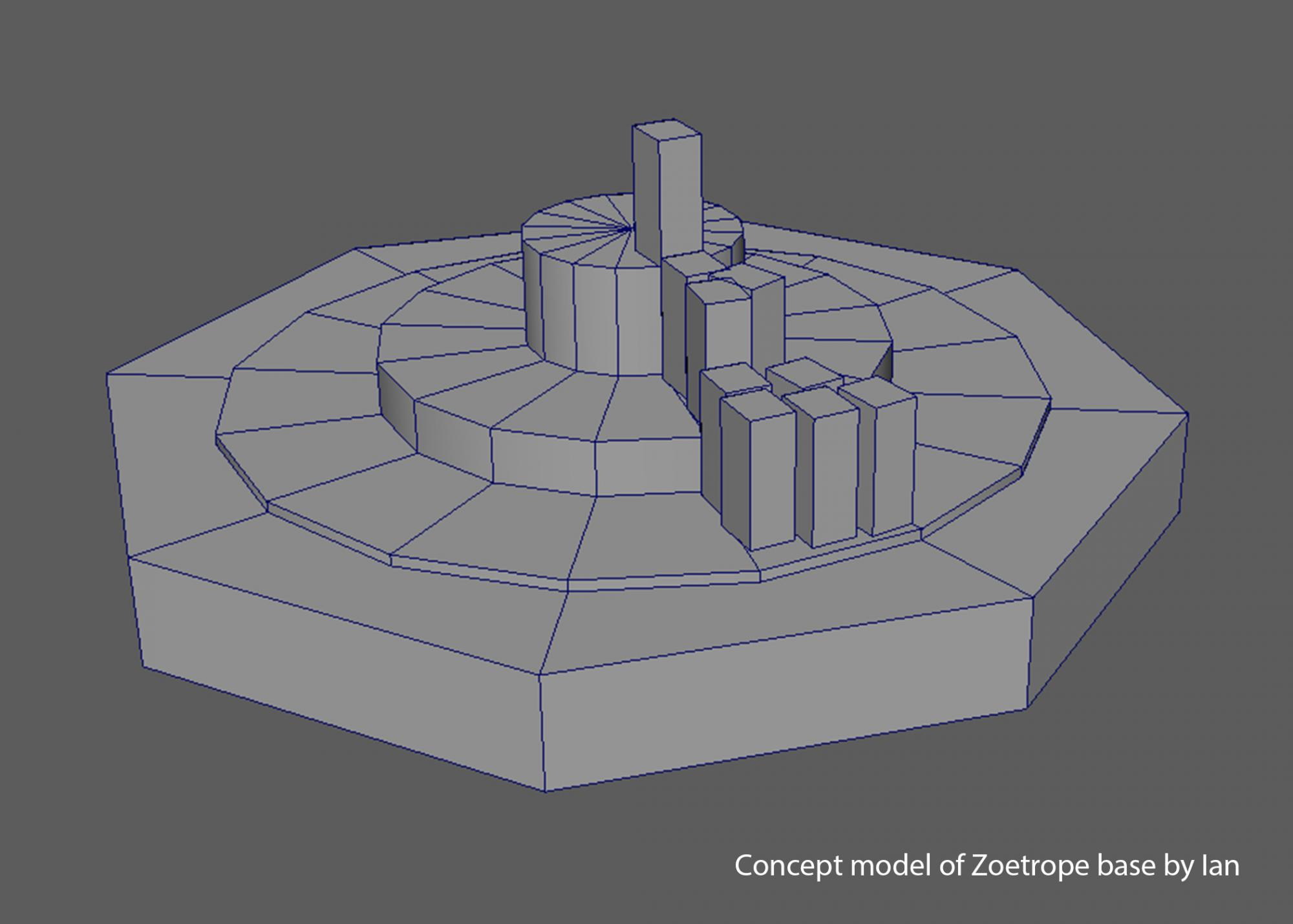 Concept model of Zoetrope base by Ian House