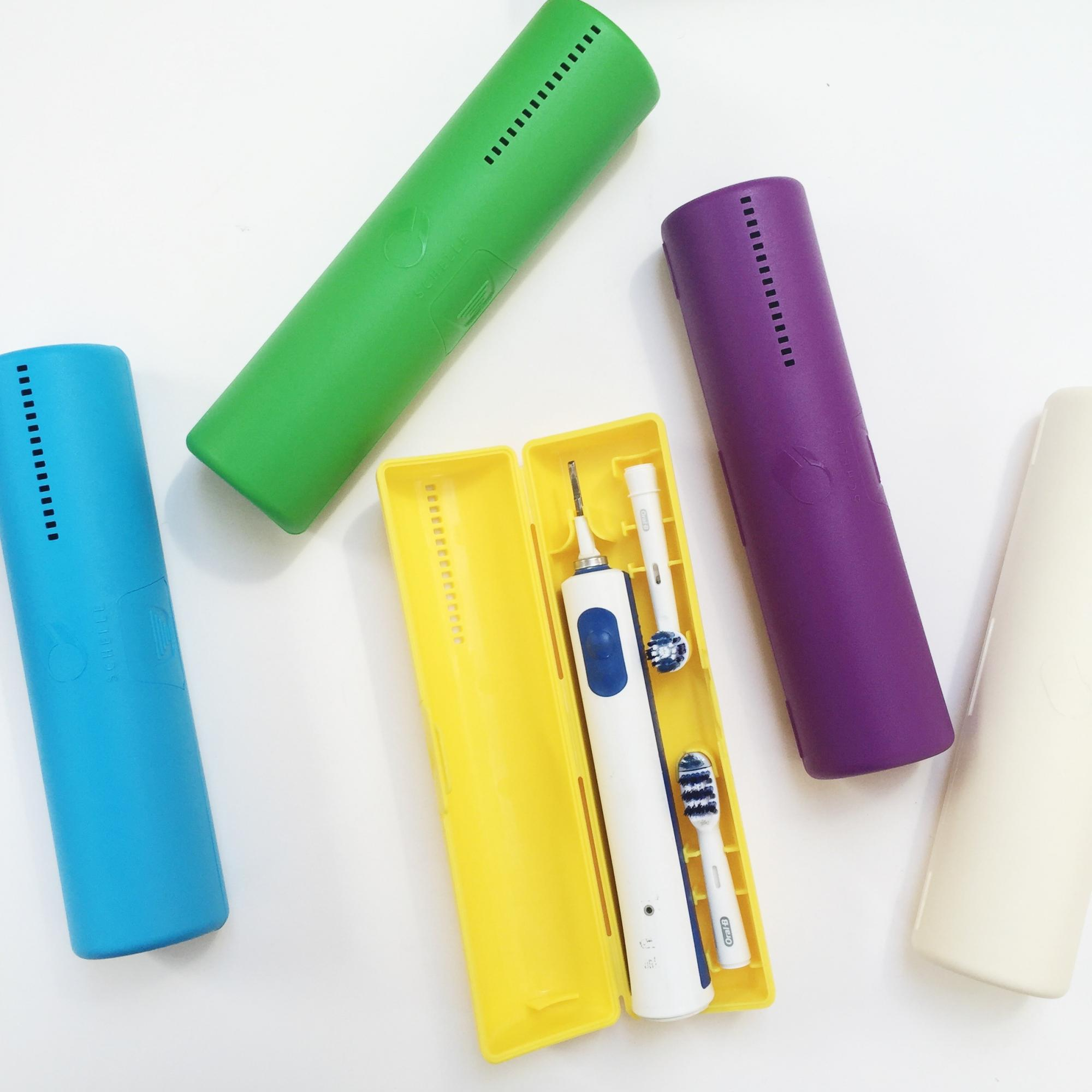 Schelle electric toothbrush case.