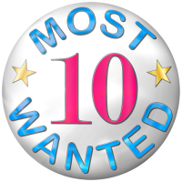 10 most wanted badge
