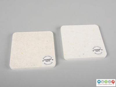 Top view of some samples showing the label.