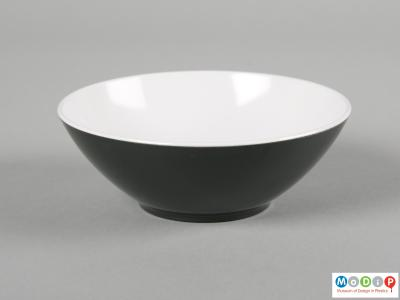 Side view of a Pan Am bowl showing the fluted sides and round foot.
