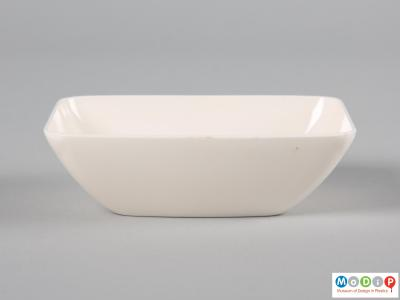 Side view of a Pan Am bowl showing the fluted sides and flat base.