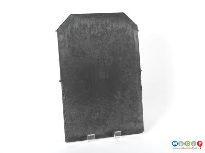 Front view of a roof slate showing the shape of the panel.