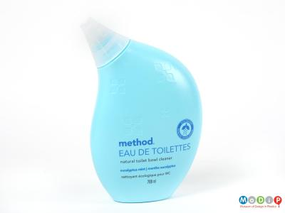 Front view of a Method bottle showing the curved shape and funnel spout.