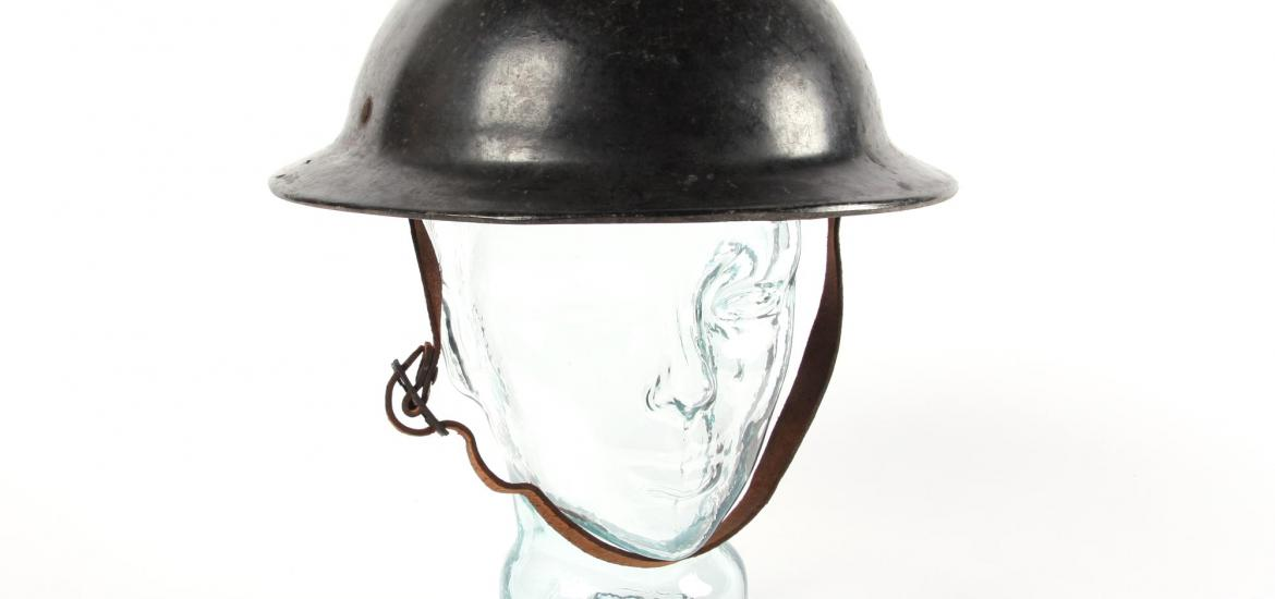 Front view of a helmet showing the bowl shape.